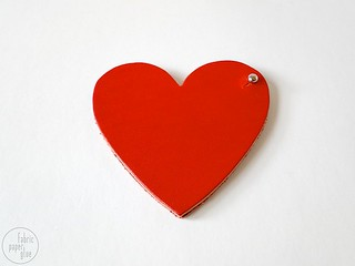 Leather Heart Coin Purse Tutorial | by fabricpaperglue