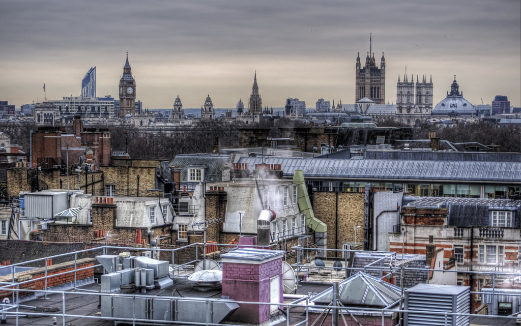 Across the rooftops of central London