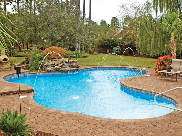 Pacific pools lagoon style pool latham international for Inexpensive in ground pool ideas