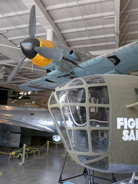 The nose piece of the 'Fightin' Sam' B-24 Liberator