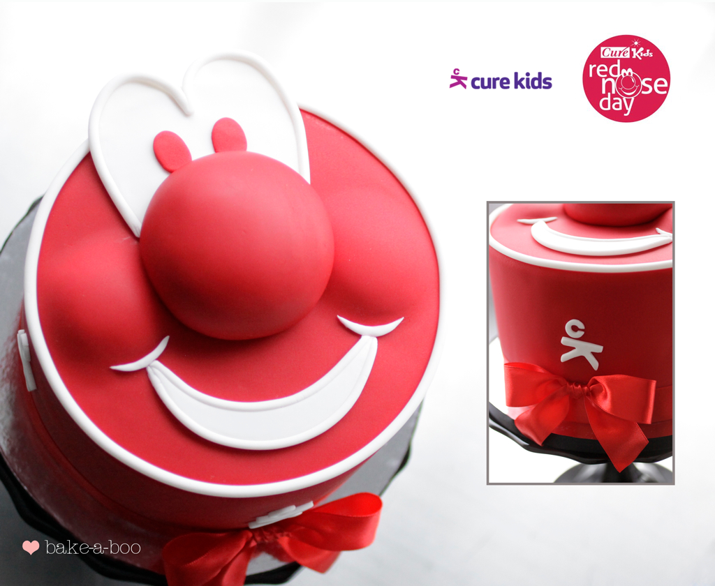 Red Nose Cake Images : Red nose day -Cure Kids cake I had the opportunity to ...