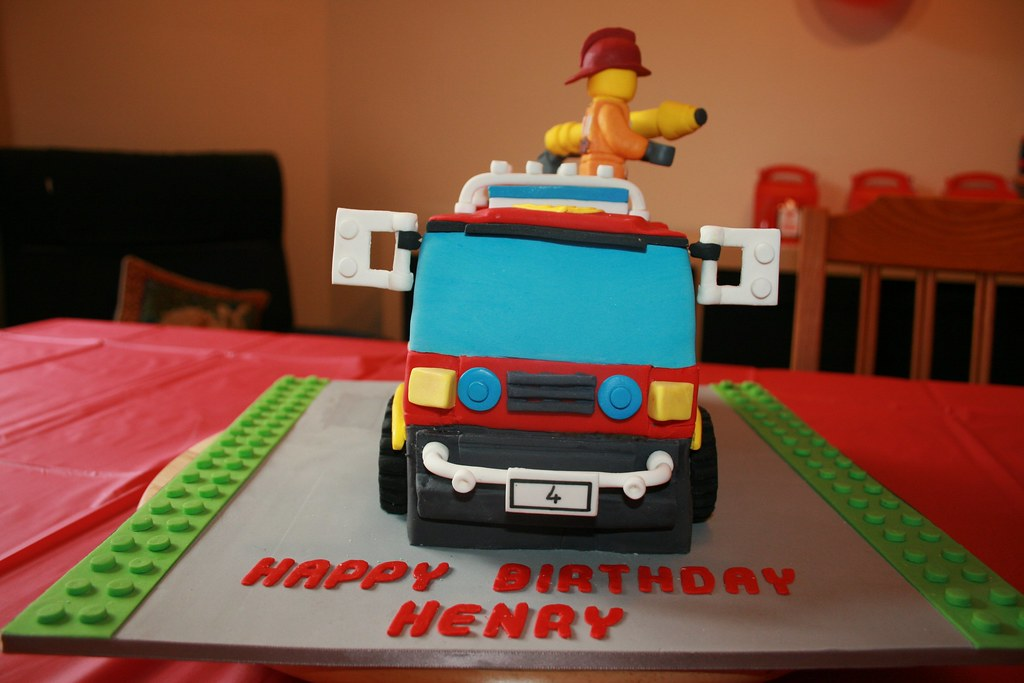 fire truck birthday cake 4x4 truck birthday cake iii from the front the 4071