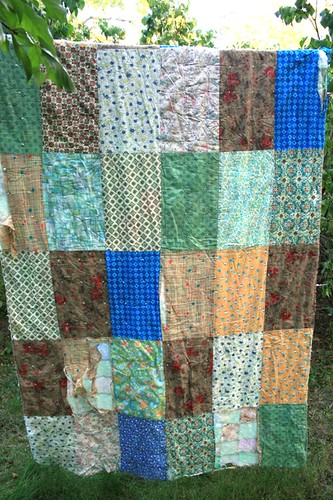 great grandma's quilt back | by sonnetofthemoon