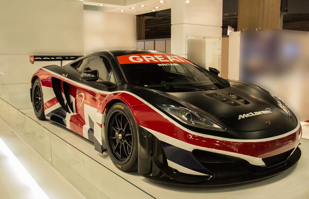 Mclaren Mp4 12c Gt3 Nice Colour In Great Britain Flag