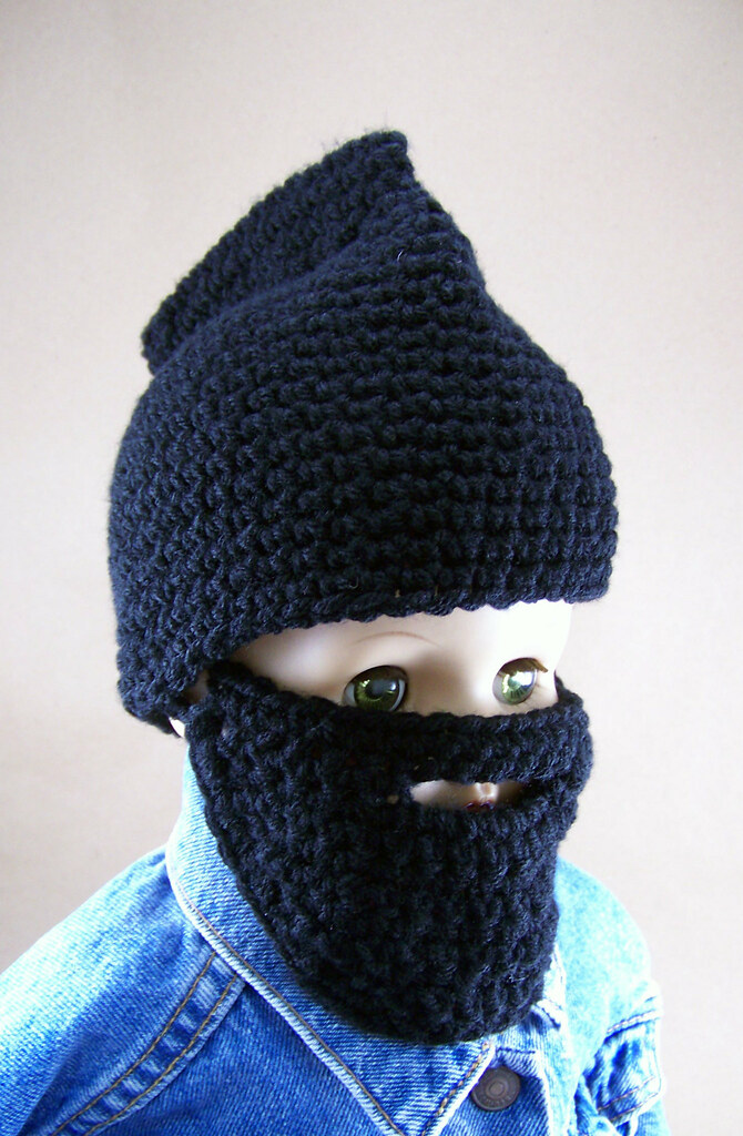 c370db22c Baby Beard & Mohawk Hat 3/4   Crocheted Mohawked Beanie with…   Flickr