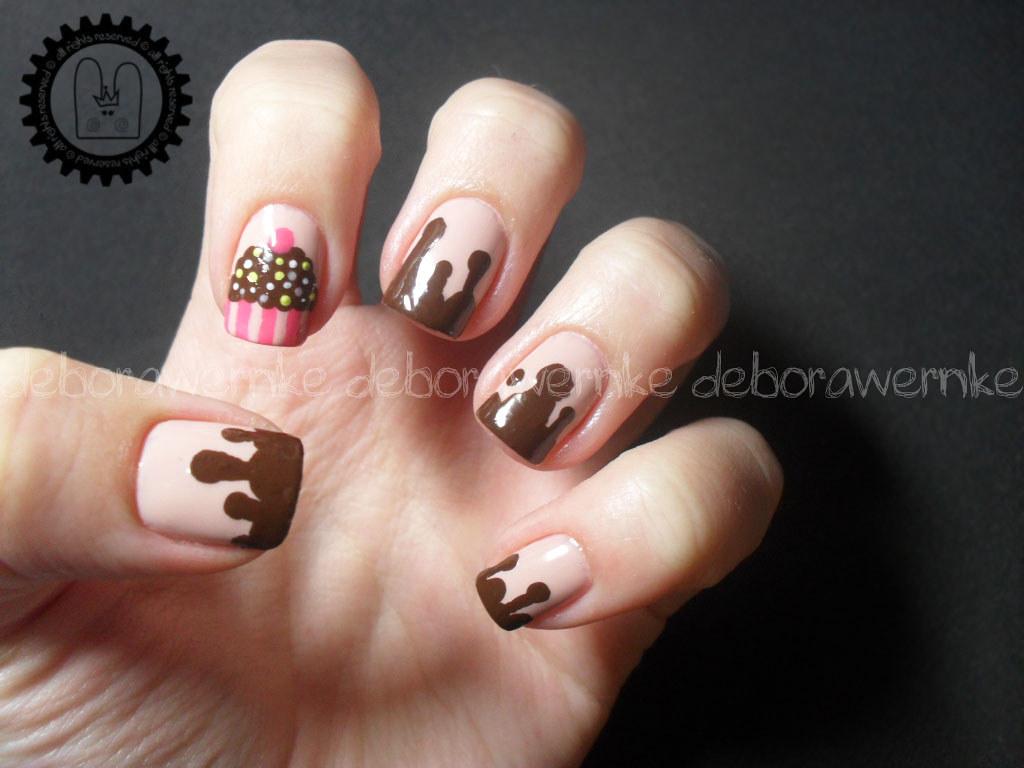 ... Nail Art - Cupcake (Especial 1 ano de Fofurice Rules) | by DéboraWernke - Nail Art - Cupcake (Especial 1 Ano De Fofurice Rules) Flickr
