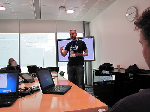 Doug Belshaw, Mozilla Open Badges session | by Computing At School Scotland