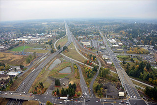 Aerial view of Salmon Creek Interchange Project | by WSDOT
