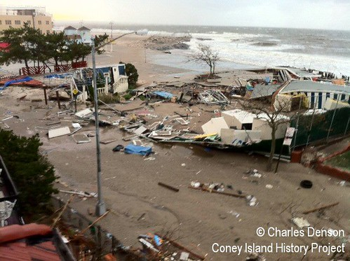 Seagate Beach Club Destroyed by Hurricane Sandy | by Coney Island History Project