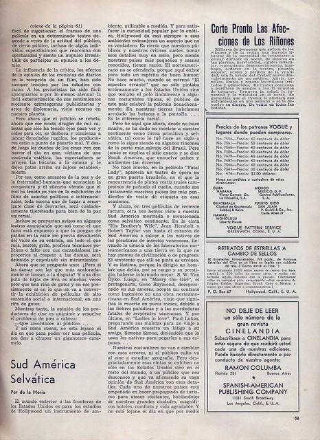 Cinelandia, Tomo XI Nº 1, Janeiro 1937 - 63