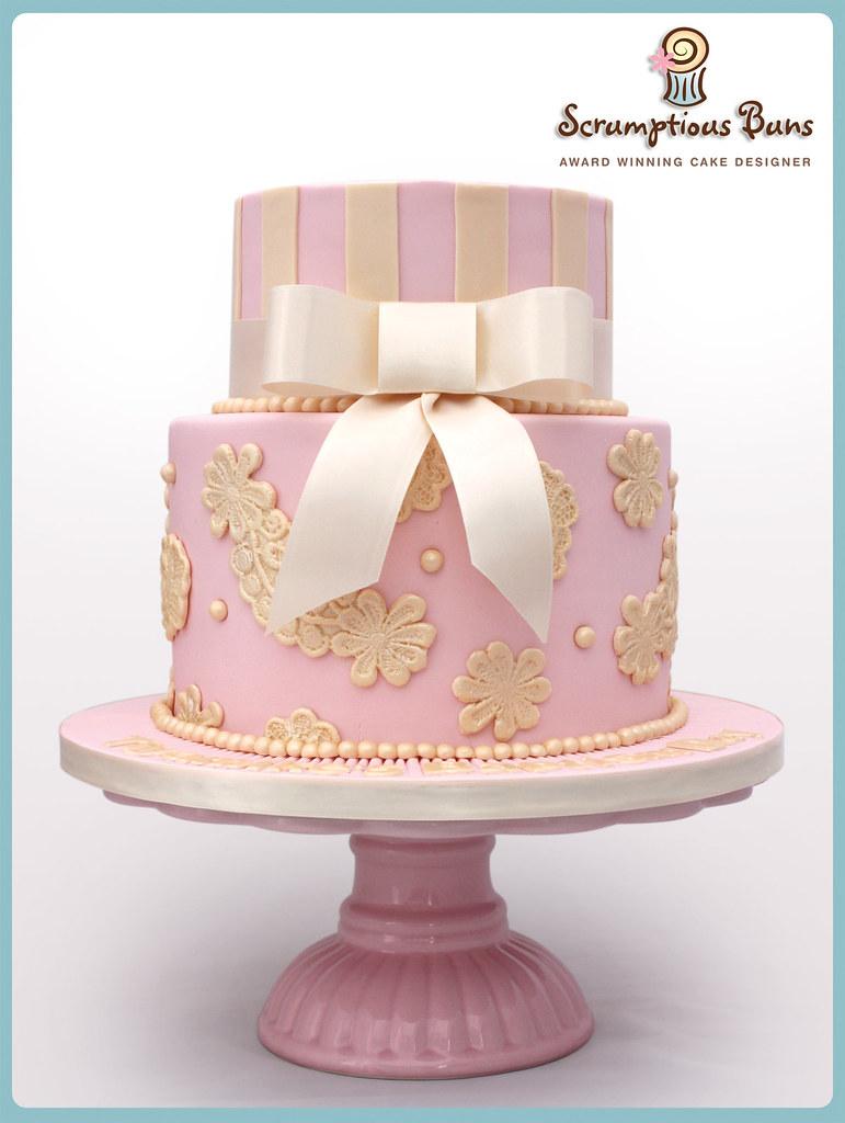 Traditional Christening Cake