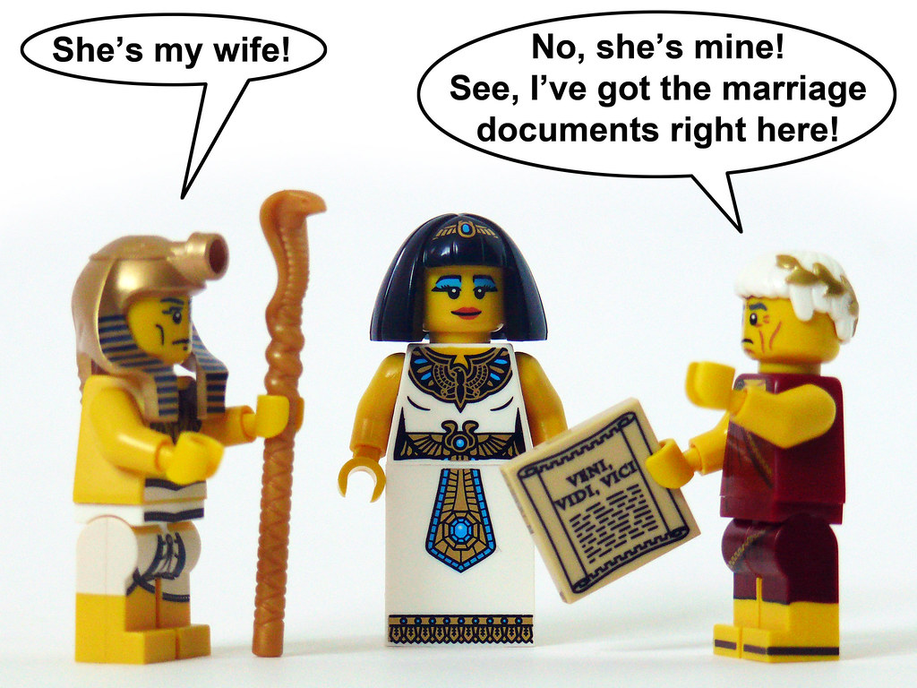 Who was cleopatra married to