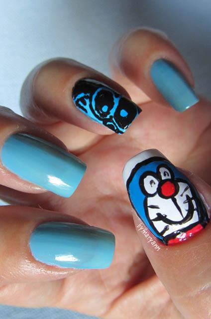 Doraemon Nail Art Mary Ann Flickr