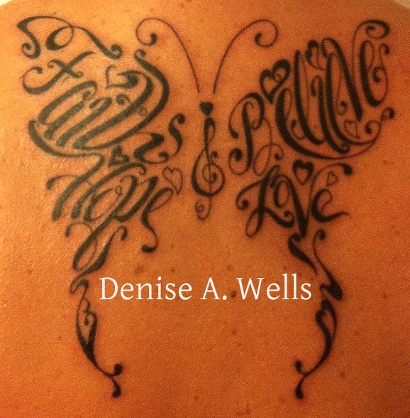 Tattoo Quotes Dreams Hope Belief: Faith Hope Believe Love Words Made Into A Butterfly Shaped