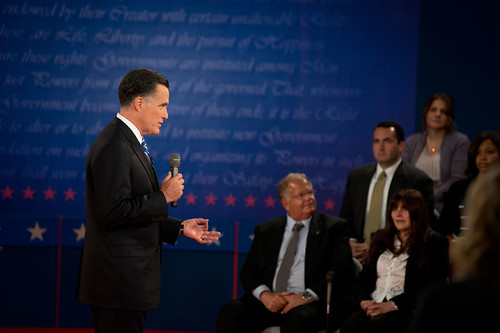 Mitt Romney at the second presidential debate—October 16th | by Barack Obama