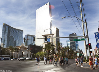 crossing the street in las vegas | by Eva Blue