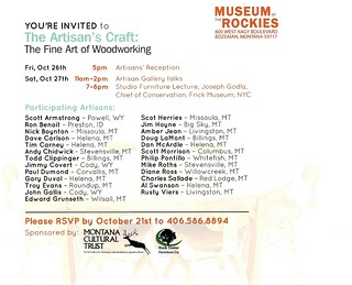 Fine Art of Woodworking Invitation-Back | by toddclippinger
