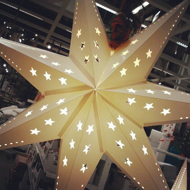 Christmas decoration ikea star with led lights | Pics by ...