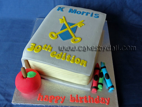Maths Book Cake Cake For A Headteacher Cakes By Dali