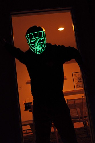 Glow-Poly Mask - In Doorway - Front | by kongorilla