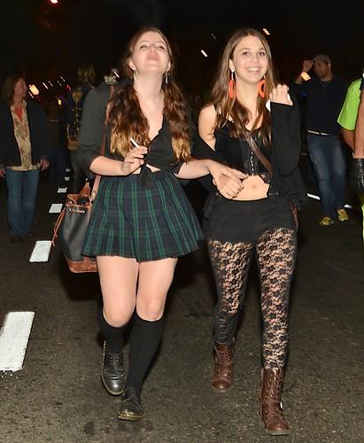 Halloween West Hollywood 2012 Sexy Smoking Schoolgirls -8375