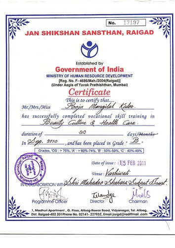 Govt approved beauty culture & health care certificate cou ...