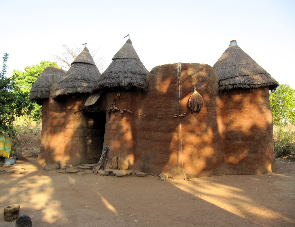 beautiful african architecture - tata somba house near nat… | flickr
