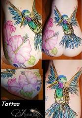Kolibri Tattoo I Did A New Tattoo On Our Doll Sakura Streifchen