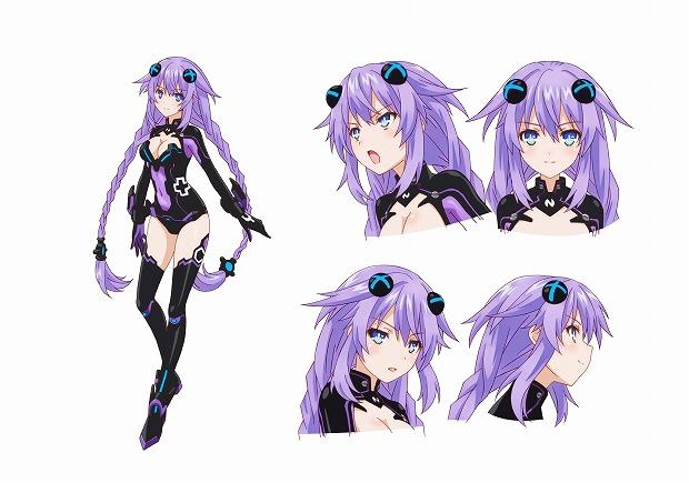 130131(1) - 今夏的電玩改編動畫《超次元戰記 戰機少女》揭曉四大女神動畫造型,主角聲優維持原班人馬!