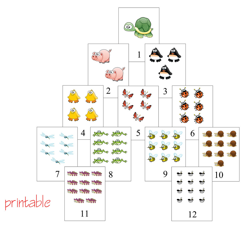 Learning Numbers Flash Card Printable Pdf On My Blog P Flickr