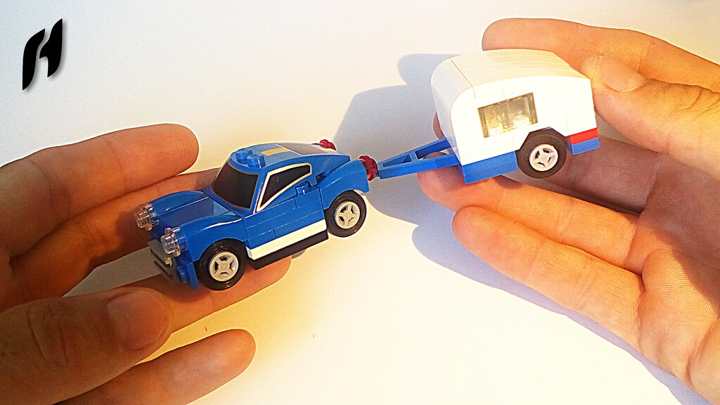 How To Build A Small Blue Car With Caravan Moc Youtu