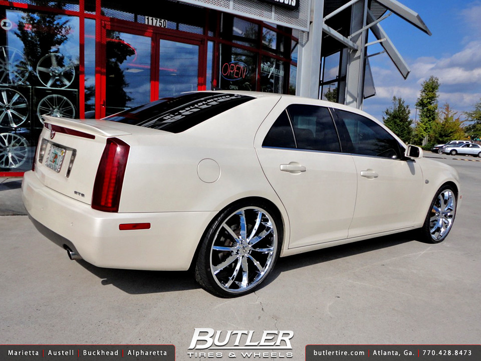 Cadillac Sts With 22in Lorenzo Wl032 Wheels Additional