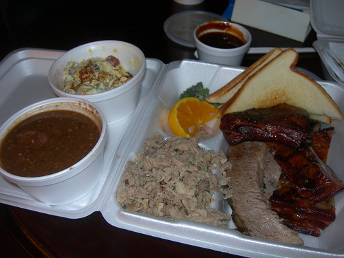 Rivertowne BBQ Plate | Ozark, Arkansas I got the combo plat ...