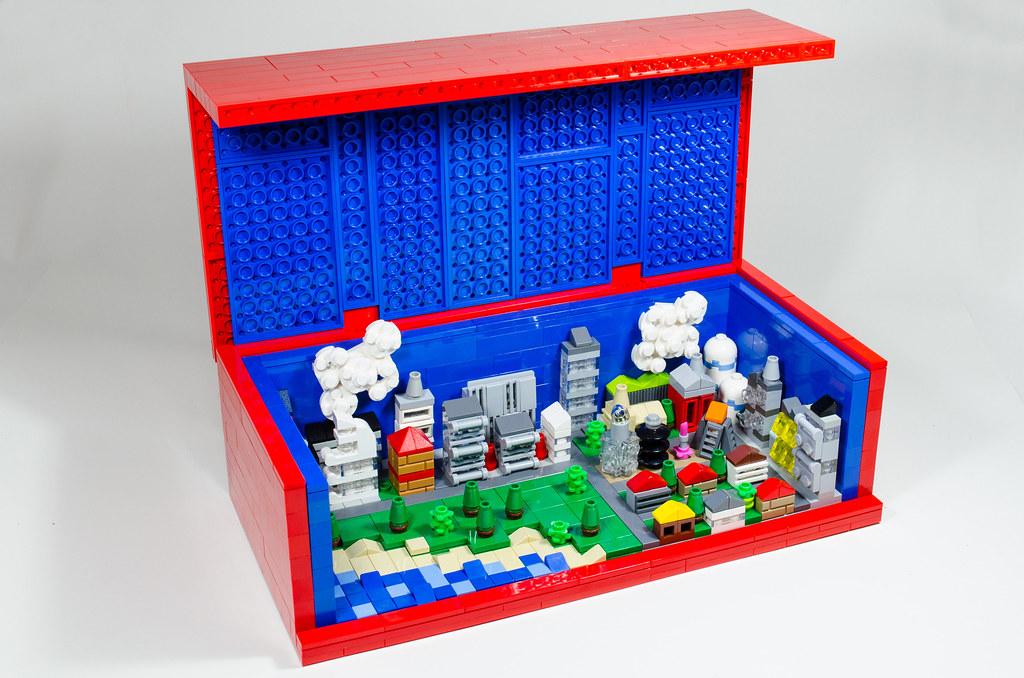 Mini Lego city in Brick | A mini Lego city in a 8 x Lego ...