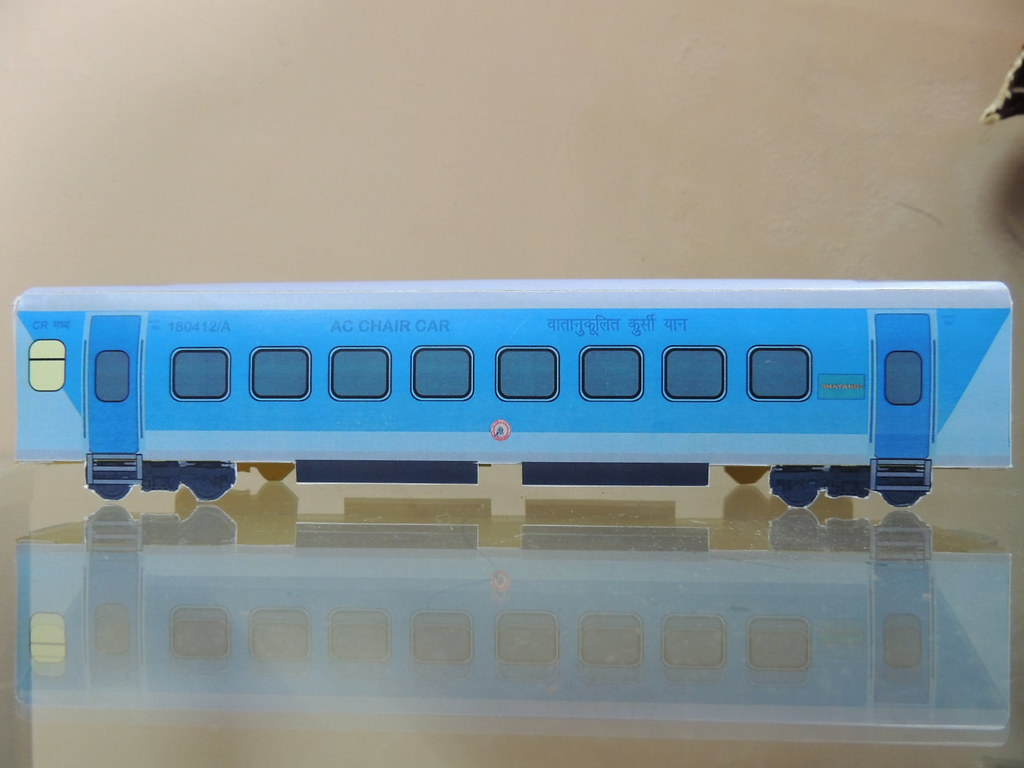 indian railway paper model of shatabdi express ac chair ca flickr