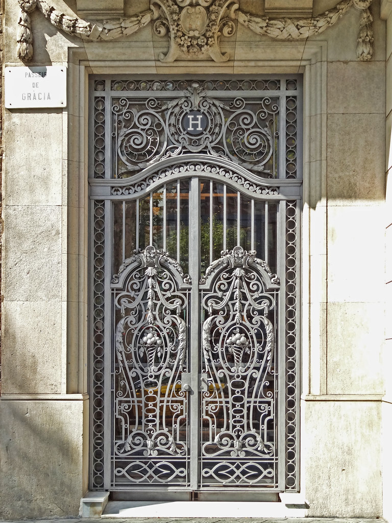 Decorative Steel Doors : Barcelona ornamental iron door wrought