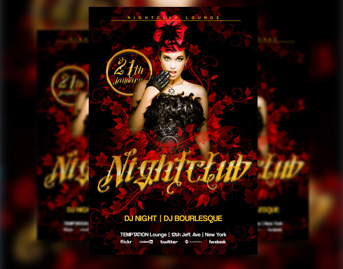 Red Nightclub Party Club Flyer Psd Template Download this – Club Flyer