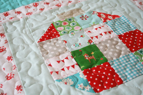 patchwork block ~ Vintage Holiday quilt | by tashanoel