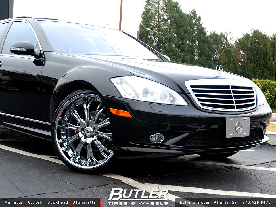 Mercedes benz s550 with 22in asanti af148 wheels for S 550 mercedes benz for sale