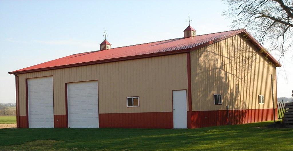 40 X 48 X 14 Pole Barn 2 Overhead Doors 1 36 Quot Entry