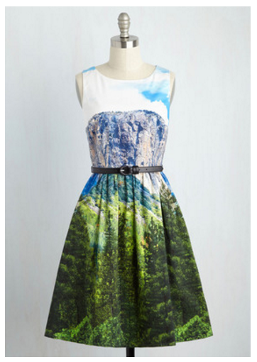modcloth landscape dress