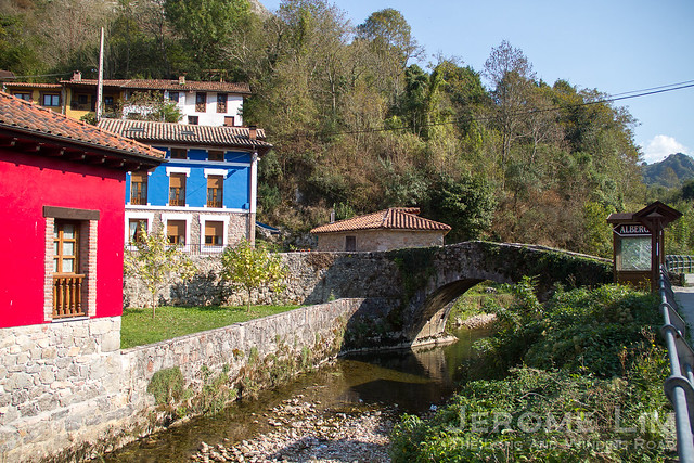 The village of La Riera in the Asturias.