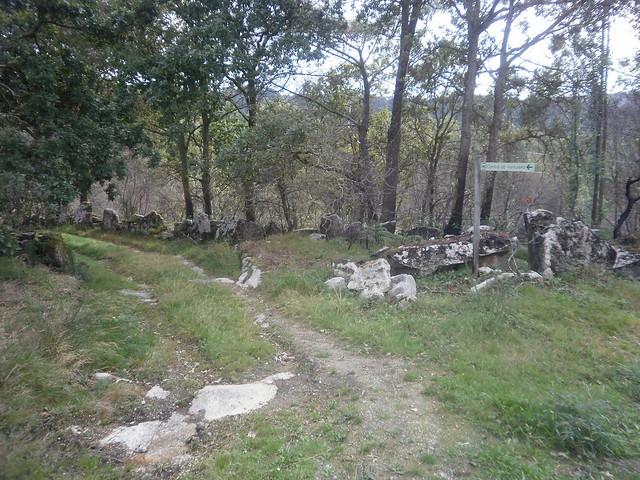 Desvío en la Ruta por el Cañón del Eume