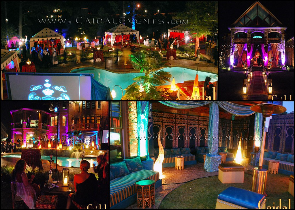 Moroccan theme corporate party in a private mansion atlant for Hollywood mansion party rental