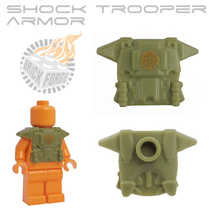 Shock Trooper Armor - Olive Green w/ Colonial Marine Emblem | by BrickForge