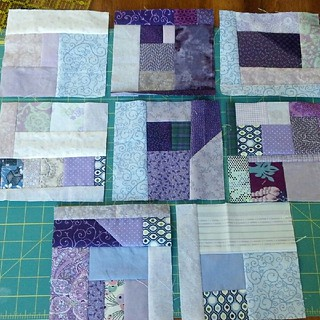 8 purple scrap blocks | by vickivictoria