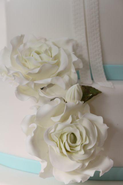 V Klassische Hochzeitstorte Zur Hochzeit Taufe Hellblau We Flickr