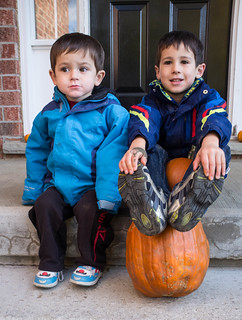 Sebi and Javier with pumpkins | by chilebeans
