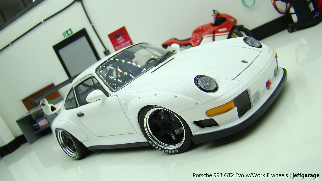 porsche 993 gt2 evo w workii wheels diecast 1 18 scale. Black Bedroom Furniture Sets. Home Design Ideas