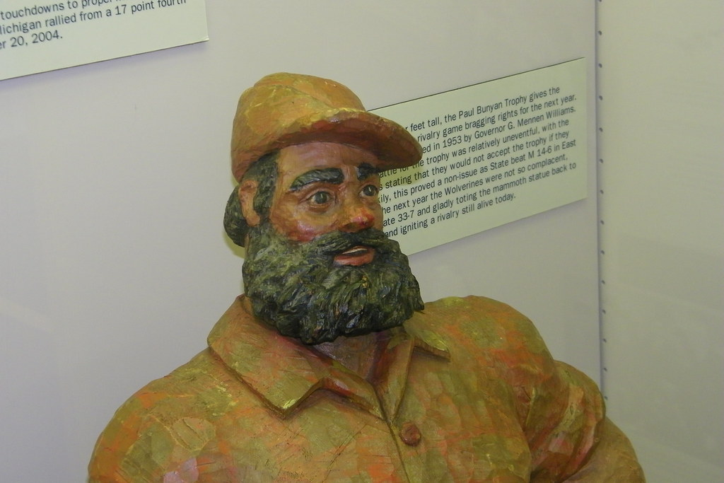 paul bunyan trophy at the margaret dow towsley sports muse